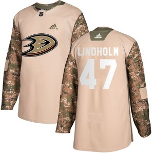 Youth Anaheim Ducks Hampus Lindholm Adidas Authentic Veterans Day Practice Jersey - Camo