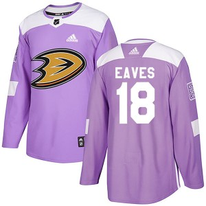 Youth Anaheim Ducks Patrick Eaves Adidas Authentic Fights Cancer Practice Jersey - Purple